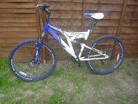 "Dunlop sport mountain bike 26"" discs full suspension adult girls boys"