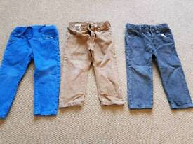 Boys cord trousers x3 age 2-3