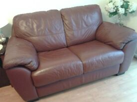 Sofa two seater leather for sale