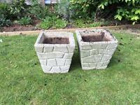Lovely concrete planters