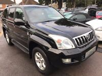 2005/54 TOYOTA LAND CRUISER 3.0 D 4D LC4 5DR BLACK AUTOMATIC,FULL LEATHER,LOOKS + DRIVES REALLY WELL