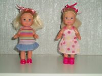 DOLLS x 2 - SIMBA - BLONDES - VINTAGE - COLLECTABLE - c1990
