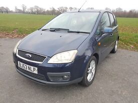 FORD FOCUS C MAX 1.8 Zetec 5dr in BLUE with Full years MOT until 18/12/16.