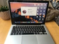 MacBook Pro (Retina, 13 inch, Late 2013), Intel Core i5, 4gb Ram, 128GB SSD