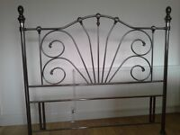 Beautiful Kingsize Headboard in silver/pewter colour. Will enhance any bedroom.