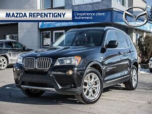2013 BMW X3 XDRIVE** EXECUTIVE CUIR ROUGE**