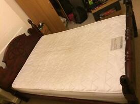 Strong wooden double bed frame