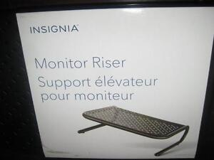 Insignia - Computer Monitor Riser / PC Desktop Stand / Monitor Stand. Storage for Notebook. Light Weight. Strong. NEW