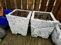2x stone flower beds