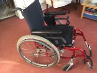Quickie 2 Wheelchair with footrests