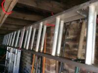 Aluminium ladders extends to 20 feet