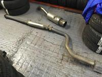 Honda Civic hatch stainless exhaust system