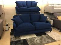 Plush Marine velvet 3 plus 2 seater sofa's