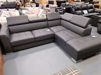 Brand New Leather Corner Sofa Bed With Storage 2-3 week delivery time adjustable back rests