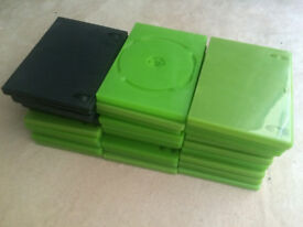 Xbox green cases x25 (and 5 black making 30 in total) - £5