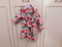 girls dressing gown John Lewis 6-9 months