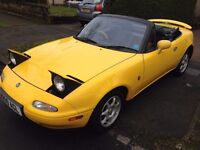 MAZDA MX5 EUNOS ROADSTER*J LIMITED 2*1.8*ONLY 67K*SUNBURST YELOW*130 BHP*1 OF 800*LIMITED EDITION*