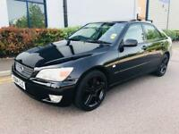 2000/X LEXUS IS200 - AUTO - BLACK - SERVICE HISTORY