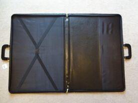 BRAND NEW UNUSED A2 SIZE (16.5x23.4inch) LEATHER ART PORTFOLIO CASE/FOLDER