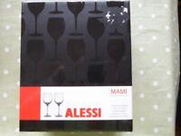 New Alessi White Wine Glasses