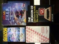 Dragon 32 computer + games