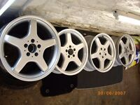 MERCEDES AMG ALLOYS ALLOY WHEELS C E CLK CL S CLASS REFURBISHED