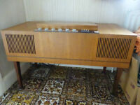 HMV Stereomaster record playwe with VHF Radio-model 23301-mid century 1968