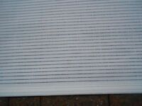 **HARRY COREY** White Roller Blind** Excellent Condition**