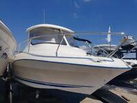 QuickSilver 540 Pilothouse w/ Mariner 75hp Outboard Engine Cabin Boat Sea Cruiser