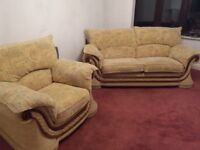 Suite - 3 seater, 2 seater, arm chair & foot stool. All cover are removable.
