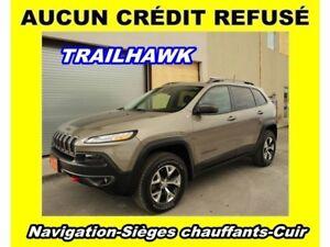 2017 Jeep Cherokee TRAILHAWK 4X4 *NAVIGATION* CAM. RECUL *0$ COM