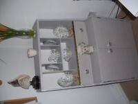 VINTAGE WRITING BUREAU. UPCYCLED TO A HIGH STANDARD IN PALE GREY