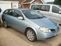 Reduced - 2005 Nissan Primera Estate P12 2.0l Petrol - 11 Month MOT + towbar
