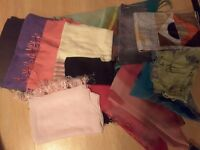 Women13x assorted shawls and scarfs