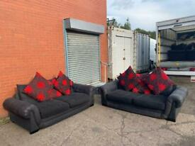 Black fabric sofas delivery 🚚 sofa suite couch furniture