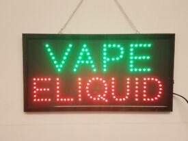 LED Flashing VAPE sign shop business door hanging window