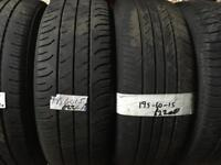 195 60 15 PART WORN tyres ** FREE FITTING AND BALANCING **