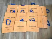 Authentic genuine Louis Vuitton designer paper carrier bags