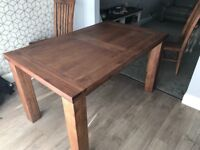 Dining table & 6 chairs -solid wood