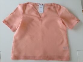 Brand new with tags, 100% silk top. peach colour, size M-L, by '& Other Stories' - bargain!