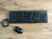 HP keyboard and mouse set