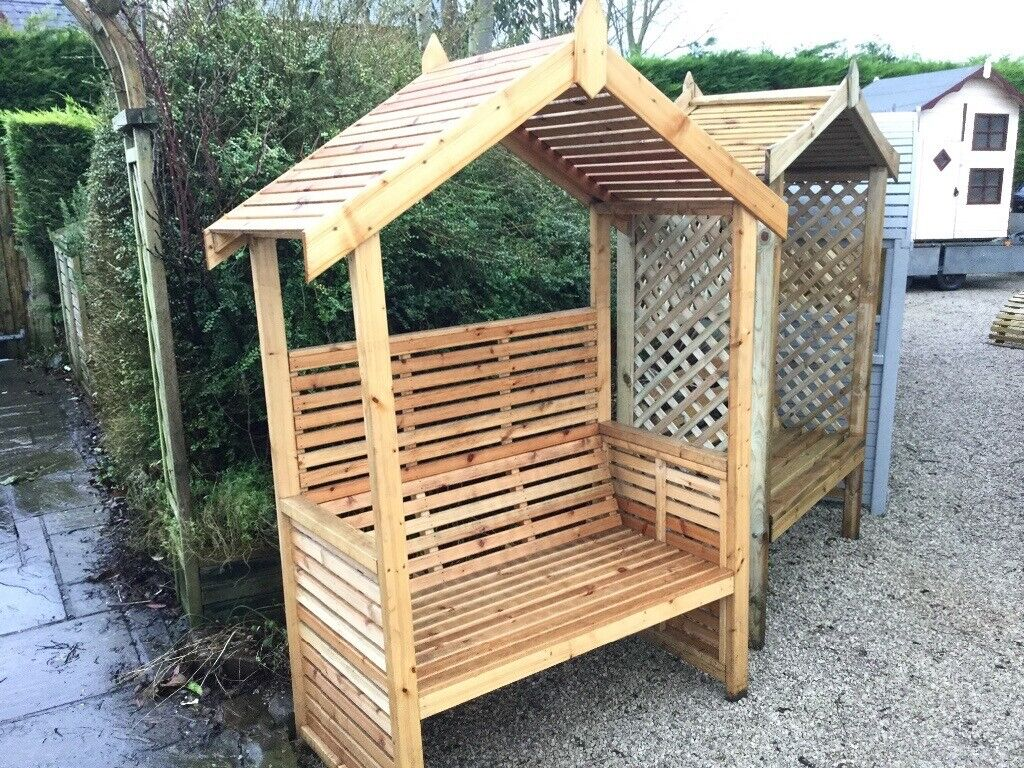 Country Garden Arbour New Ready Built Bench Seat