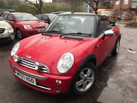 07 plate - mini Convertible petrol - one year mot -service history