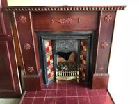 Traditional fire and surround
