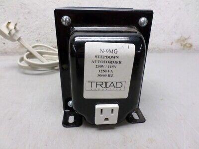 Triad N-9mg Step Down Autoformer Transformer Input 230 Vac Output 115 Vac 1250va