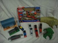 Thomas the Tank Engine Railway set with 4 Engines, Track and Outbuildings