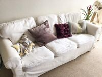 *REDUCED* Comfy white ikea sofa