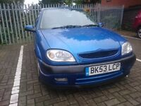 2003 CITROEN SAXO 1.6 VTR...LONG MOT..SPORTS EXHAUST...FAST car