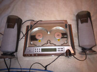 RARE twin/double wharfedale cd player system with speakers - wpc-318