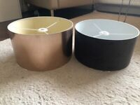 Two large lampshades like new